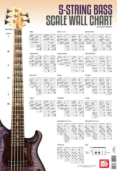 5 string bass scale wall chart. Black Bedroom Furniture Sets. Home Design Ideas