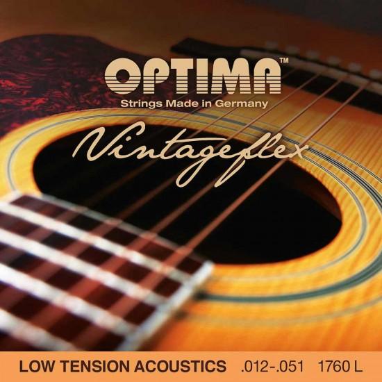 optima vintageflex low tension acoustic guitar strings 12 51 full set. Black Bedroom Furniture Sets. Home Design Ideas