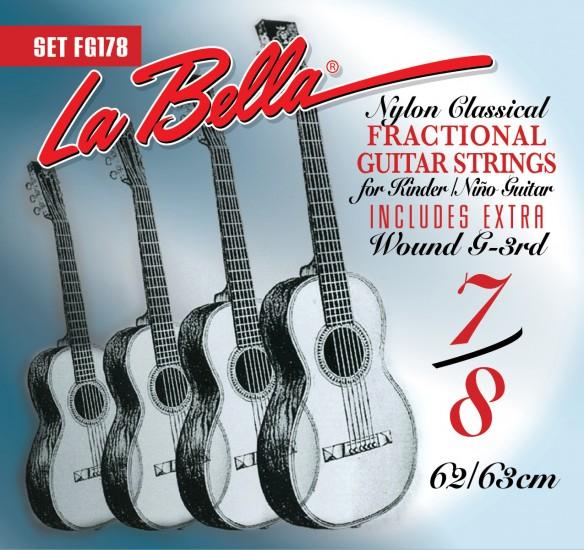 la bella fg178 fractional guitar strings 7 8 size full set. Black Bedroom Furniture Sets. Home Design Ideas