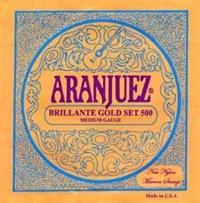 Aranjuez Brillante Gold 500 MT Classical Guitar Strings, Full Set