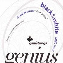 Galli Genius GR20 Black / White HT Nylon Guitar Strings, Full Set