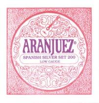 Aranjuez Spanish Silver 200 LT Classical Guitar Strings, Full Set