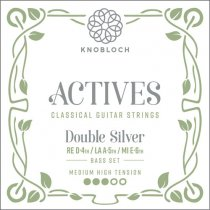 Medium-High Tension KNOBLOCH-STRINGS 400ADN Actives Double Silver SN Nylon