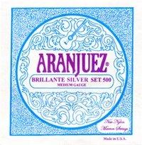 Aranjuez Brillante Silver 500 MT Classical Guitar Strings, Full Set