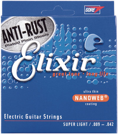 Elixir 12002 Nanoweb Coated Electric Guitar Strings (9-42) Full Set