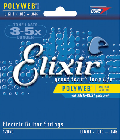 Elixir 12050 Polyweb Coated Electric Guitar Strings (10-46) Full Set