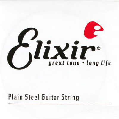 Elixir 13017 Anti-Rust Plated Plain Steel .017, Single String