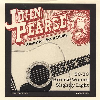 John Pearse 160SL 80/20 Bronze Acoustic Guitar Slightly Lt 11-50