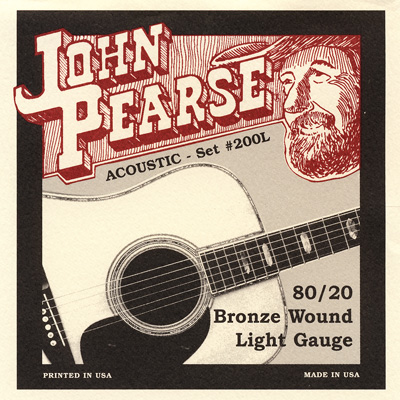 John Pearse 200L 80/20 Bronze Wound Light Gauge, Full Set