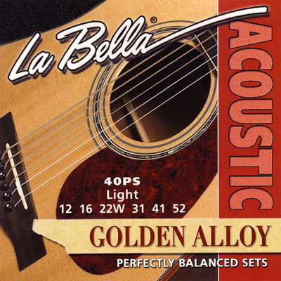 La Bella 40PS Golden Alloy Light, Full Set