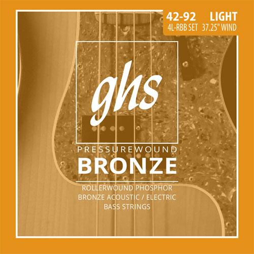 ghs 4l rbb pressurewound bronze bass guitar strings 42 92. Black Bedroom Furniture Sets. Home Design Ideas