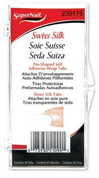 "SuperNail Swiss Silk Wrap Self-Adhesive, 40 Tabs (36"")"
