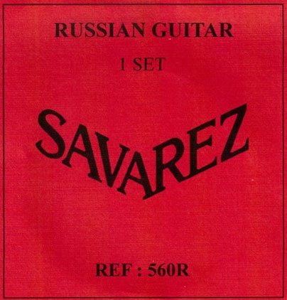 savarez 560r russian 7 string nt classical guitar strings full set. Black Bedroom Furniture Sets. Home Design Ideas