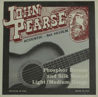 John Pearse Acoustic Phosphor Bronze Silks Light/Med, (12-53) 610LM