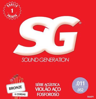 Sound Generation Acoustic Guitar SG 6691 Phosphor Bronze (11-52)