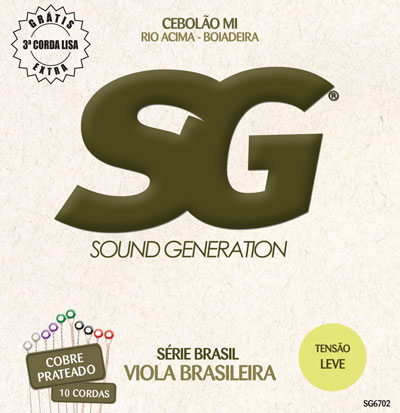 Sound Generation Viola Brasileira Strings SG 6702 Silver Copper Light