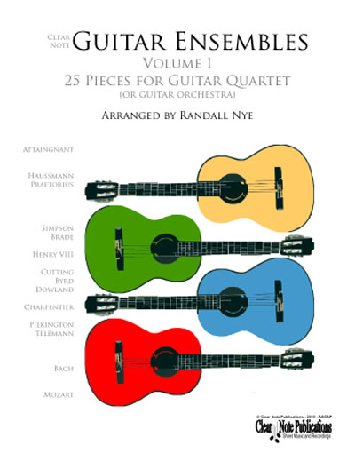 Guitar Quartets Arranged by Randall Nye Vol. 1