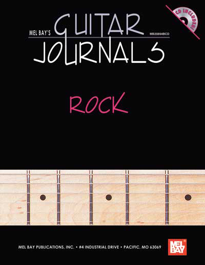 Mel Bay's Guitar Journals - Rock Book/CD Set