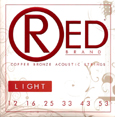 RED Brand 7312 Copper Bronze Acoustic Guitar Strings Light 12-53