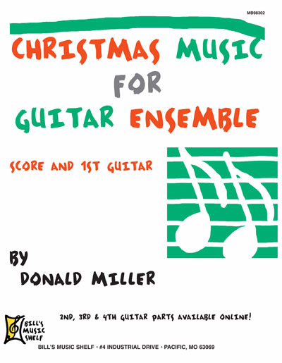 Christmas Music for Guitar Ensemble Score and 1st Guitar
