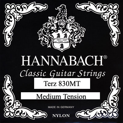 Hannabach Terz Guitar 830MT 570mm, Full Set
