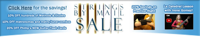 Strings By Mail Sept Newsletter Sale