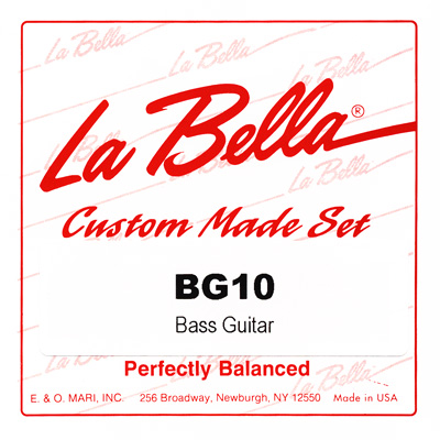 La Bella BG10 Classical Bass Guitar, Full Set