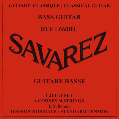 Savarez 660RL Bass Guitar 4 strings (860mm scale), Full set