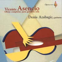 Denis Azabagic | Vicente Asencio. Obras para guitarra CD