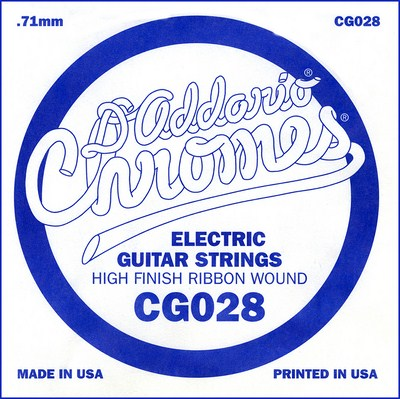 D'Addario CG028 XL .028 inches (.71 mm), Single String