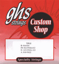GHS Tiple CU-TPL Custom Shop 10 String Set (10-34)
