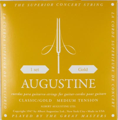Augustine Classic Gold Medium Tension, Full Set