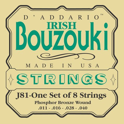 D'Addario J81 Irish Bouzouki Phosphor Bronze Wound, Full Set