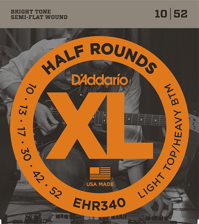 Jazz Medium 13-56 D/'Addario EHR360 Half Round Electric Strings