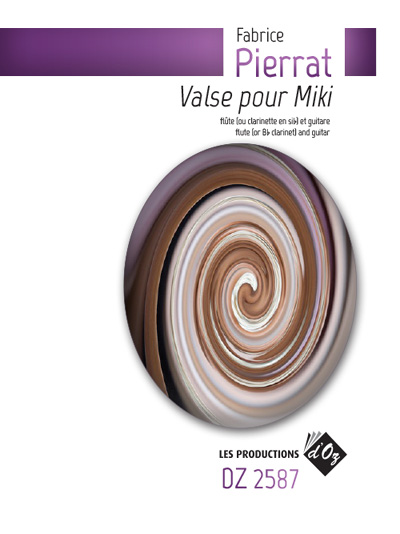 Fabrice Pierrat   Valse pour Miki for guitar and flute (or ...