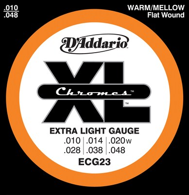 D'Addario ECG23 Chromes Extra Light (10-48), Full Set