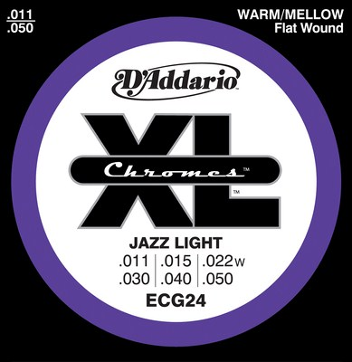D'Addario ECG24 Chromes Jazz Light (11-50), Full Set