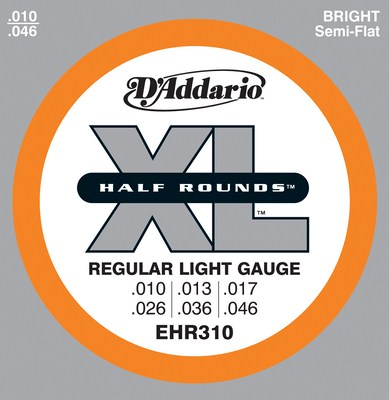 D'Addario EHR310 Half Rounds Regular Light 10-46, Full Set