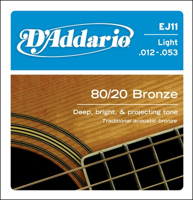 D'Addario EJ11 Light 80/20 Bronze, Full Set