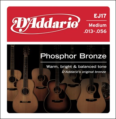 D'Addario EJ17 Medium Phosphor Bronze (13-56) Full Set