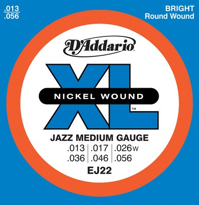 D'Addario EJ22 Jazz Medium Gauge, Full Set