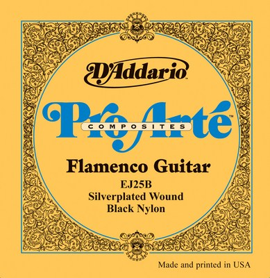 D�Addario Flamenco EJ25B with Black Trebles. Full Set