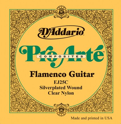 D�Addario Flamenco EJ25C with Clear trebles, Full Set