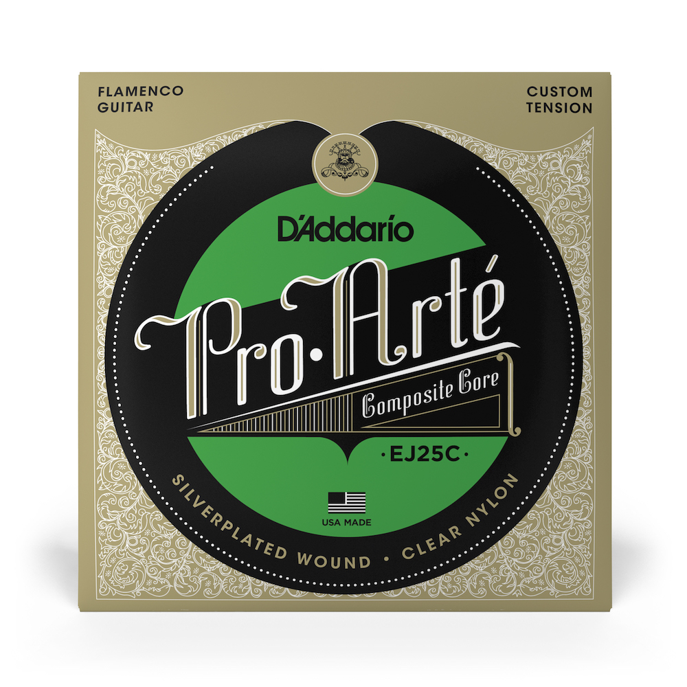 D'Addario Flamenco EJ25C with Clear trebles, Full Set