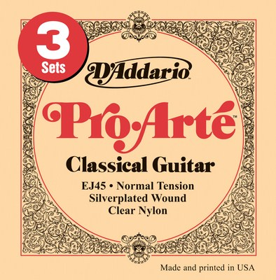 D'Addario EJ45-3D Pro Arte Normal Tension, 3 Full Sets