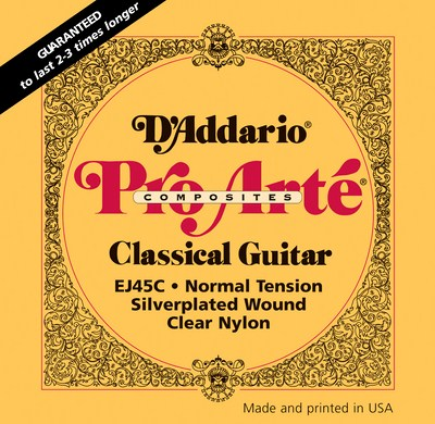 D'Addario EJ45C Pro Arte Composite Normal Tension, Full Set