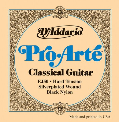 D'Addario EJ50 Pro Arte HT (black trebles), Full Set