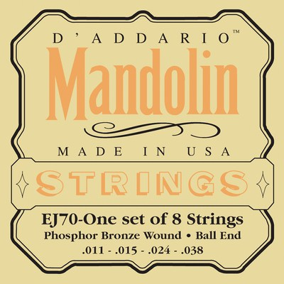 D'Addario EJ70 Mandolin Ball End (8 strings), Full Set