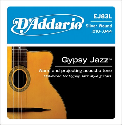 D'Addario EJ83L Gypsy Jazz Light, Full Set