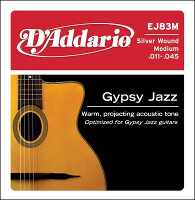 D'Addario EJ83M Gypsy Jazz Medium, Full Set